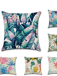 Недорогие -1 штук Лён Наволочка, Деревья / Листья Геометрический рисунок Мода Modern Бросить подушку