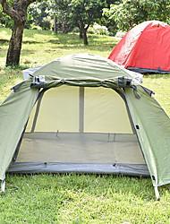 Недорогие -2 человека Световой тент Семейный кемпинг-палатка На открытом воздухе Легкость С защитой от ветра Устойчивость к УФ Двухслойные зонты Карниза Палатка 2000-3000 mm для