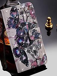 Недорогие -чехол для apple iphone 11 / iphone 11 pro / iphone 11 pro max кошелек / визитница / с подставкой для всего тела чехлы бабочка искусственная кожа
