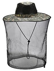 Недорогие -Шляпа для туризма и прогулок Москитная сетка шляпа 1 ед. Компактность Защита от комаров Защита от излучения Удобный Пэчворк Хлопок Осень для Муж. Жен. Рыбалка Походы / туризм / спелеология Путешествия