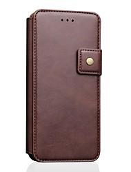 Недорогие -чехол-кошелек с держателем для кредитной карты iphone xs / iphone xr / iphone xs max чехол для всего тела сплошная цветная натуральная кожа