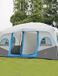 Недорогие -Shamocamel® 8 человек Туристическая палатка-хижина Семейный кемпинг-палатка На открытом воздухе Водонепроницаемость Компактность Дышащий Двухслойные зонты Автоматический Туристическая палатка-хижина