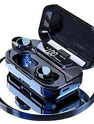 Недорогие -Litbest G02 TWS 5.0 Bluetooth стерео наушники со светодиодной смарт-дисплей питания BK 3300 мАч ipx7 водонепроницаемый телефон Hanolder