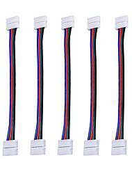Недорогие -ZDM 5 шт. RGB 5050 Светодиодные разъемы для ленточных полосок 4 штырька шириной 10 мм для снятия перемычек