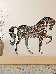 Недорогие -самоклеящийся водонепроницаемый диван для гостиной и домашнего фона для настенной наклейки для цветных лошадей декоративные настенные наклейки на стену - плоские наклейки на стены животных детская