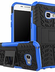 Недорогие -Кейс для Назначение SSamsung Galaxy J7 (2017) / J7 / J5 (2017) Защита от удара / Защита от пыли Кейс на заднюю панель Полосы / волосы Твердый Пластик / ПК