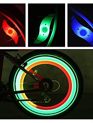 Недорогие -Светодиодная лампа Велосипедные фары огни безопасности колесные огни Велосипедные фонари Горные велосипеды Велоспорт Водонепроницаемый Несколько режимов Будильник Аккумулятор CR2032 / IPX-4
