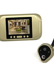 Недорогие -720 hd электронный кошачий глаз интеллектуальный проводной видео дверной звонок камера поддержка фото запись супер большой угол обзора