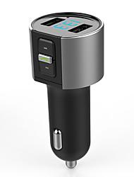 Недорогие -автомобильный комплект громкой связи Bluetooth 5v 3.4a Dual USB зарядное устройство FM-передатчик радио MP3-плеер Поддержка карт памяти USB флэш-накопитель