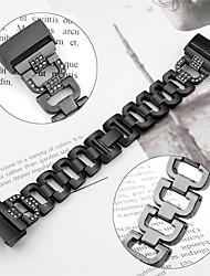 Недорогие -Ремешок для часов для Fitbit Charge 3 Fitbit Спортивный ремешок / Современная застежка / Дизайн украшения Нержавеющая сталь Повязка на запястье