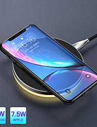 Недорогие -10 Вт Ци беспроводное легкое зарядное устройство для iphone XR XS макс. 8 быстрая зарядка беспроводной планшет для Samsung S9 S8 Huawei Companion 20 Pro