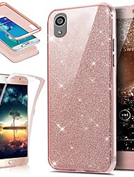 ieftine -Maska Pentru Sony Xperia XA Anti Șoc / Anti Praf / Luciu Strălucire Carcasă Telefon Mată / Luciu Strălucire Moale TPU pentru Sony Xperia XA