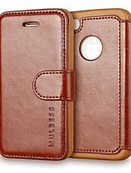 Недорогие -чехол для apple iphone 4 / 4s магнитный / флип / пыленепроницаемый чехол для всего тела сплошная твердая кожа pu для iphone 4s / 4