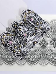 levne -1 pcs Nálepky Květinový motiv nail art manikúra pedikúra Mini styl / Bezpečnost / Ergonomický design stylové / Jednoduchý