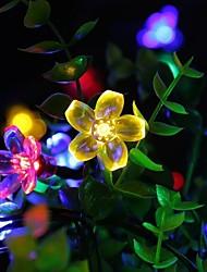 Недорогие -Loende 2 м 20 светодиоды вишни струнные светильники с питанием от батареи рождественский фестиваль украшения в помещении открытый двор освещение декоративные