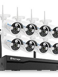 Недорогие -Techage 1-канальная беспроводная система видеонаблюдения 1080p Wi-Fi IP-камера на открытом воздухе домашней безопасности системы видеонаблюдения nvr kit