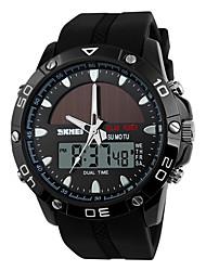Недорогие -Нарядные часы силиконовый Аналого-цифровые Черный Серебряный Коричневый