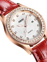 Недорогие -Жен. электронные часы Кварцевый Старинный Стильные Натуральная кожа Красный / Фиолетовый 30 m Повседневные часы Аналоговый На каждый день Мода - Белый Черный Два года Срок службы батареи