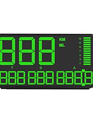 Недорогие -Ziqiao CZZJ C90 5,5-дюймовый GPS-спидометр HUD дисплей GPS Head Up спидометр автомобиля грузовик одометр с предупреждением о превышении скорости автомобильные часы