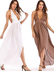 cheap -A-Line Plunging Neck Chiffon Bridesmaid Dress with by LAN TING Express