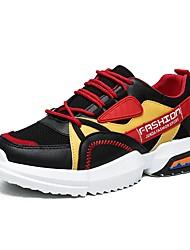 hesapli -Erkek Ayakkabı Örümcek Ağı Sonbahar Kış Atletik Ayakkabılar Günlük için Siyah / Beyaz / Kırmzı