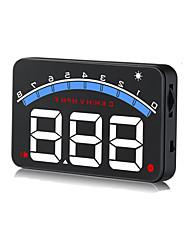 Недорогие -универсальный дисплей M6, дисплей с жёсткой головкой, автомобильный стиль, дисплей HUD, предупреждение о превышении скорости, лобовое стекло, проектор, сигнализация