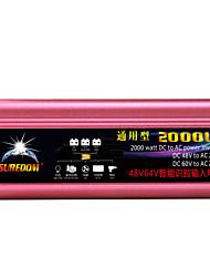 Недорогие -высокое качество автомобильный инвертор 48vand60v до 220v 2000w многофункциональное автомобильное зарядное устройство / инвертор / конвертер с USB-разъемом