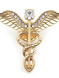 Недорогие -Муж. Броши Скульптура Крылья ангела Стиль европейский Брошь Бижутерия Золотой Серебряный Назначение Повседневные