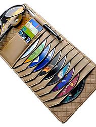 Недорогие -автомобильный солнцезащитный козырек органайзер искусственная кожа многофункциональные очки для хранения клип документы папка карты держатель компакт-диска