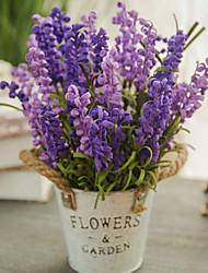 povoljno -Umjetna Cvijeće 1 Podružnica Klasični Europska Pastoral Style Biljke Svijetlo plava Cvjeće za stol