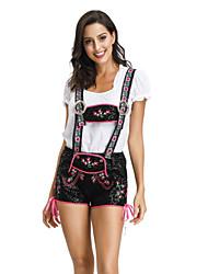 billige -Halloween Karneval Oktoberfest dirndl Dame bayerske Sort Top Bukser Hat