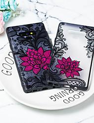 billige -Etui Til Samsung Galaxy Note 9 / Note 8 Transparent Bagcover Blomst TPU / PC