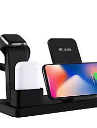 Недорогие -10 Вт ци беспроводное зарядное устройство подставка для iphone x 7 8 3 в 1 быстрое зарядное устройство быстрая зарядка для Apple, часы быстрая беспроводная зарядная база
