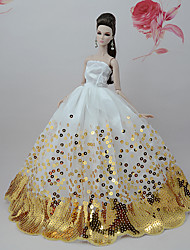 Недорогие -Платье куклы Вечеринка Для Barbie Цветочные ботанический Полиэстер Платье Для Девичий игрушки куклы