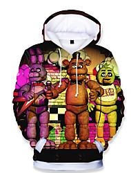 Недорогие -Дети Дети (1-4 лет) Мальчики Классический С принтом С принтом Длинный рукав Худи / толстовка Цвет радуги