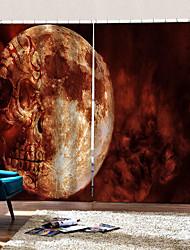Недорогие -Роскошь уф цифровая печать партия хэллоуин тема ужасный череп фон шторы утолщение плотные шторы для дома декро