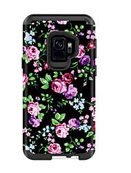 billige -Etui Til Samsung Galaxy S9 / S9 Plus Stødsikker / Vandafvisende Bagcover Landskab / Blomst PC