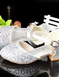 Недорогие -Девочки Детская праздничная обувь Синтетика Обувь на каблуках Большие дети (7 лет +) Серебряный Лето