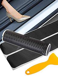 Недорогие -наклейка на дверь автомобиля из углеродного волокна защитная накладка на порог автомобиля бесследная наклейка с защитой от царапин и порога автоаксессуары