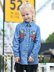 povoljno -Djeca Djevojčice Osnovni Cvjetni print Dugih rukava Majica Plava
