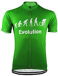 Недорогие -21Grams Муж. С короткими рукавами Велокофты Черный Зеленый Серый эволюция Велоспорт Верхняя часть Устойчивость к УФ Дышащий Влагоотводящие Виды спорта Терилен Горные велосипеды Шоссейные велосипеды