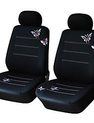 """Недорогие -Чехол для автокресла с вышивкой """"бабочка"""" Универсальный комплект автомобильных сидений-4шт / комплект (2 чехла передних сидений)"""
