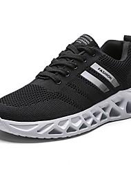 ieftine -Bărbați Pantofi de confort Plasă Toamna iarna Adidași de Atletism Negru / Negru / Alb / Gri