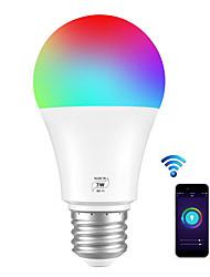 Недорогие -BRLONG Smart WIFI лампы RGBC светодиодные лампы A19 7 Вт 500LM с регулируемой яркостью лампы, совместимые с Алексой и Google Home