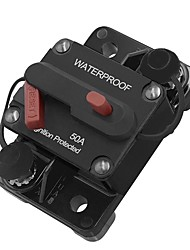 Недорогие -50а автомобильный мотор аудио ремонт энергии встроенный выключатель предохранитель ручной сброс 12 В / 24 В