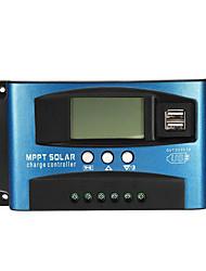 Недорогие -30/40/50/60 / 100a MPPT солнечный контроллер жк-солнечный контроллер заряда точность двойной usb панель солнечных батарей регулятор батареи - 40a
