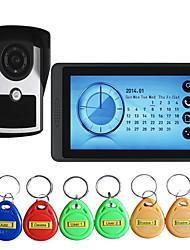 Недорогие -620fcid11 проводной будильник / встроенный динамик / камера 7-дюймовый громкой связи 800 * 480 пикселей один на один видео домофон