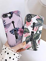 Недорогие -Кейс для Назначение Apple iPhone XS / iPhone XR / iPhone XS Max Защита от пыли / со стендом / С узором Кейс на заднюю панель Мультипликация / Цветы ПК