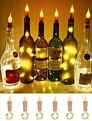 Недорогие -пламя loende в форме пробки 6 упаковок светлячков для поделок для свечей для бутылок вина