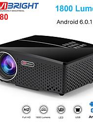 Недорогие -Проекты vivibright gp80 Проектор gp80up светодиодный 1800 люмен HD мини-портативный проектор для домашнего кинотеатра с поддержкой 1080p USB HDMI PC Video светодиодный школьный подарок Android Proyect
